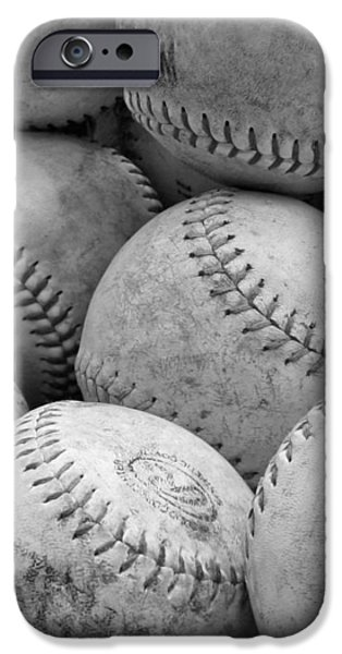 Vintage Baseballs iPhone Case by Brooke Ryan