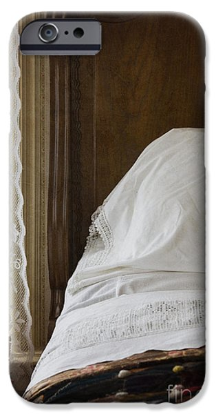 Bed Linens iPhone Cases - Vintage Bedding iPhone Case by Margie Hurwich