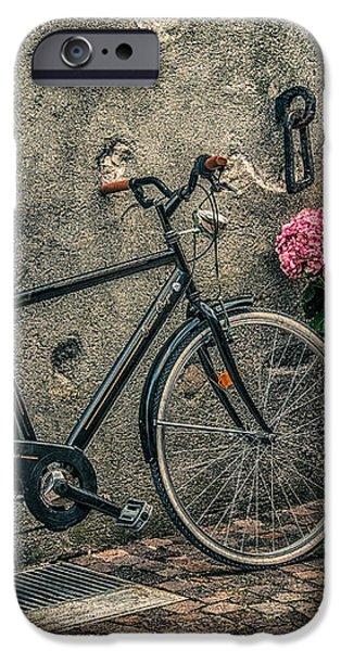 Vintage bicycle iPhone Case by Dobromir Dobrinov