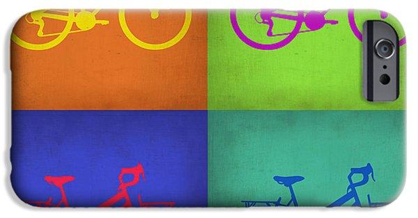 Vintage Bicycle iPhone Cases - Vintage Bicycle Pop Art 1 iPhone Case by Naxart Studio