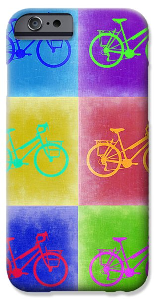 Cycling iPhone Cases - Vintage Bicycle Pop Art 2 iPhone Case by Naxart Studio