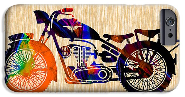 Cycle iPhone Cases - Vintage Bike iPhone Case by Marvin Blaine