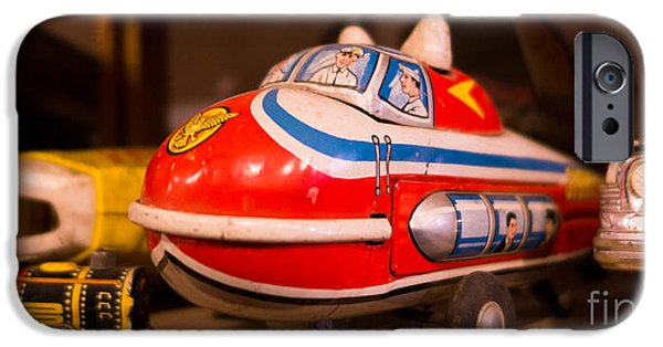 Toy Store Photographs iPhone Cases - Vintage Blimp and Toys iPhone Case by Amy Cicconi