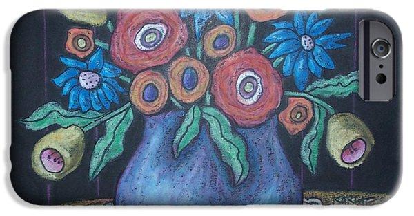 Pastel iPhone Cases - Vintage Blooms iPhone Case by Karla Gerard