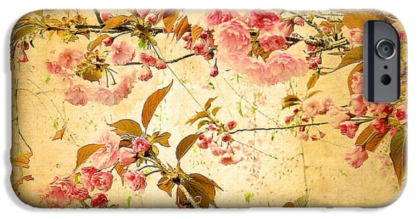 Floral Digital Art iPhone Cases - Vintage Blossom iPhone Case by Jessica Jenney