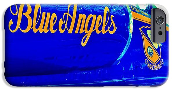 Angel Blues iPhone Cases - Vintage Blue Angel iPhone Case by Benjamin Yeager
