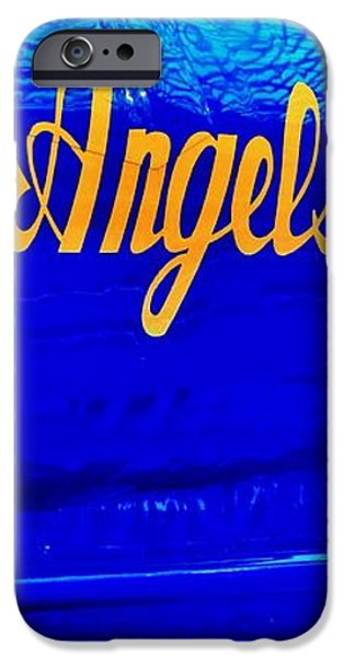 Vintage Blue Angel iPhone Case by Benjamin Yeager
