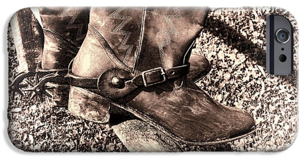 Boots iPhone Cases - Vintage Boots iPhone Case by Olivier Le Queinec