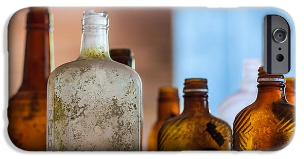 Booze iPhone Cases - Vintage Bottles iPhone Case by Adam Romanowicz