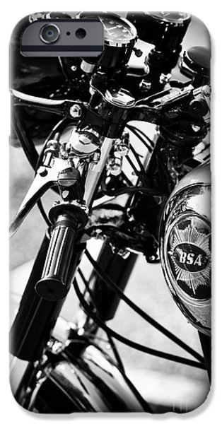 Culture iPhone Cases - Vintage BSA Goldstar iPhone Case by Tim Gainey