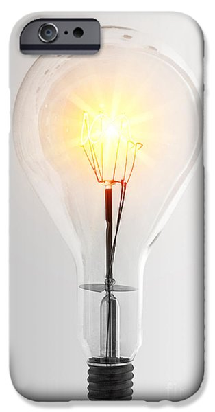 Component iPhone Cases - Vintage Bulb iPhone Case by Carlos Caetano