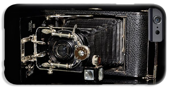 Copy Machine iPhone Cases - Vintage Camera Ernemann iPhone Case by Toppart Sweden