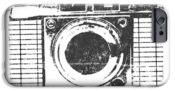 Graphic Design iPhone Cases - Vintage Camera iPhone Case by Martin Newman