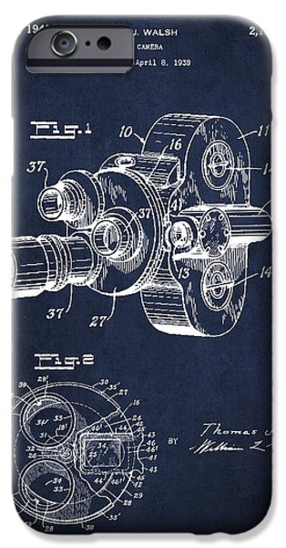Technical iPhone Cases - Vintage Camera Patent Drawing from 1938 iPhone Case by Aged Pixel