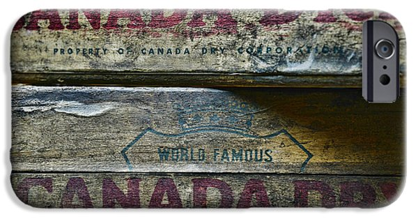 Wooden Crate iPhone Cases - Vintage Canada Dry iPhone Case by Paul Ward