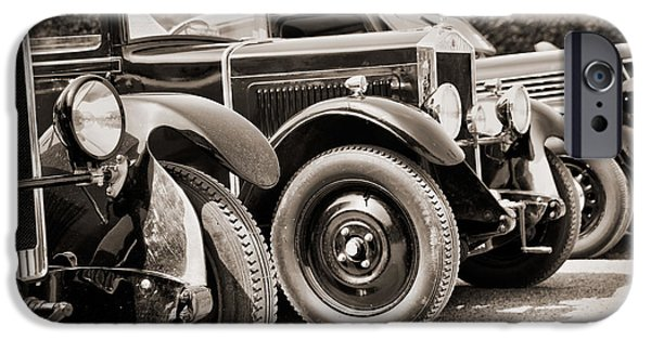 Old Cars iPhone Cases - Vintage cars iPhone Case by Delphimages Photo Creations