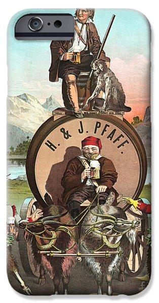 Endorsement iPhone Cases - Vintage Celebrity Endorsement 1870 iPhone Case by Padre Art