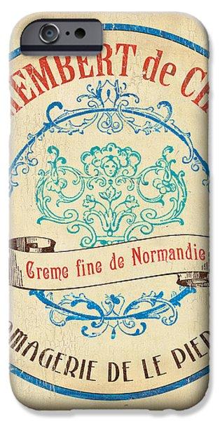 Vintage Cheese Label 4 iPhone Case by Debbie DeWitt