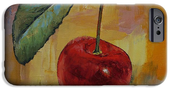 Michael iPhone Cases - Vintage Cherry iPhone Case by Michael Creese