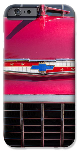 Annual iPhone Cases - Vintage Chevy Bel Air iPhone Case by Edward Fielding
