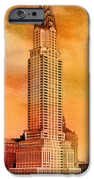 Vintage Chrysler Building iPhone Case by Andrew Fare