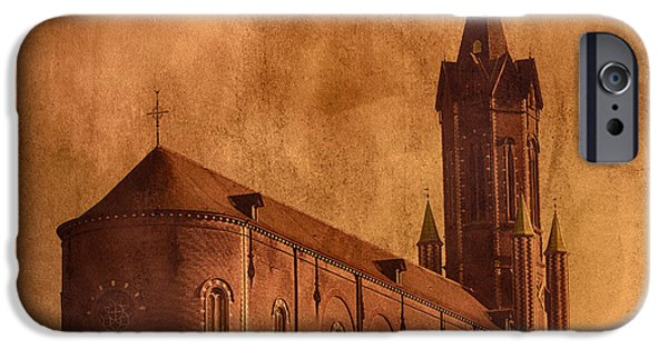 Historical Pictures iPhone Cases - Vintage Church iPhone Case by Wim Lanclus