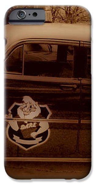 Vintage Classic D.A.R.E. Police Car iPhone Case by Thomas  MacPherson Jr