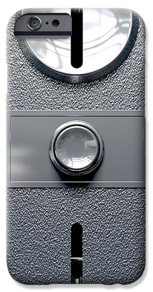 Washing Machine iPhone Cases - Vintage Coin Slot Machine Panel With Button Front iPhone Case by Allan Swart