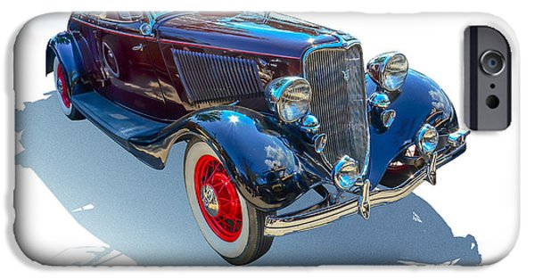 Pinstripes iPhone Cases - Vintage Convertible iPhone Case by Gianfranco Weiss