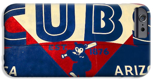 Chicago Cubs iPhone Cases - Vintage Cubs Spring Training Sign iPhone Case by Stephen Stookey