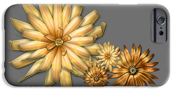 Multimedia iPhone Cases - Vintage Dahlias iPhone Case by Tina M Wenger