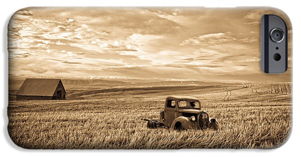 1949 Plymouth iPhone Cases - Vintage Days Gone By iPhone Case by Steve McKinzie