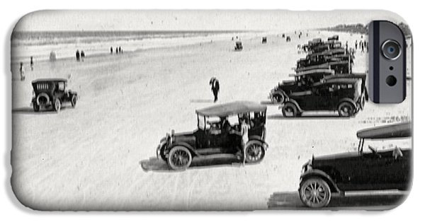 Ford Model T Car iPhone Cases - Vintage Daytona Beach Florida iPhone Case by Unknown