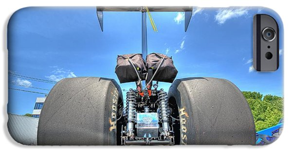 Drag iPhone Cases - Vintage Drag Racer iPhone Case by Gianfranco Weiss