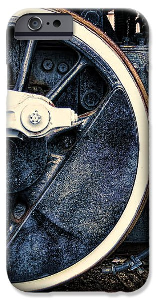 Vintage Drive Wheel iPhone Case by Olivier Le Queinec