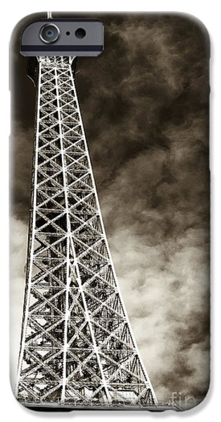 Vintage Eiffel Tower iPhone Case by John Rizzuto