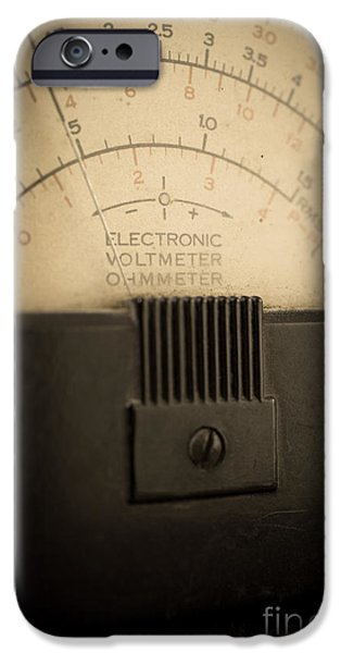 Electronics iPhone Cases - Vintage Electric Meter iPhone Case by Edward Fielding