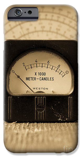 Electronics iPhone Cases - Vintage Electrical Meters iPhone Case by Edward Fielding