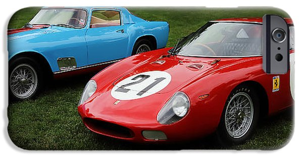Automotive iPhone Cases - Vintage Ferraris iPhone Case by Dennis Hedberg