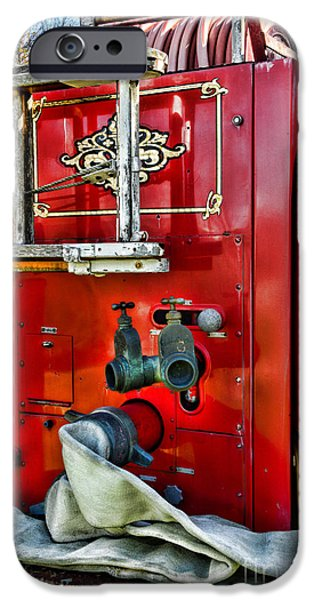 Paul Pierce iPhone Cases - Vintage Fire Truck iPhone Case by Paul Ward