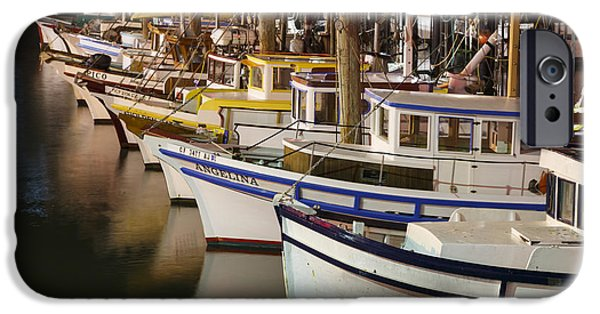 Industry iPhone Cases - Vintage Fishing Boats iPhone Case by Adam Romanowicz