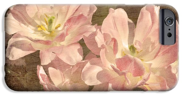 Flora Mixed Media iPhone Cases - Vintage Floral iPhone Case by Georgiana Romanovna