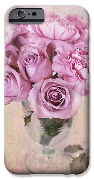 Recently Sold -  - Furniture iPhone Cases - Vintage Flowers iPhone Case by Carolyn Rauh
