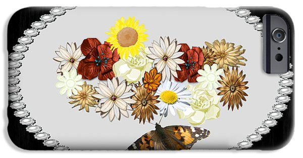 Multimedia iPhone Cases - Vintage Flowers iPhone Case by Tina M Wenger