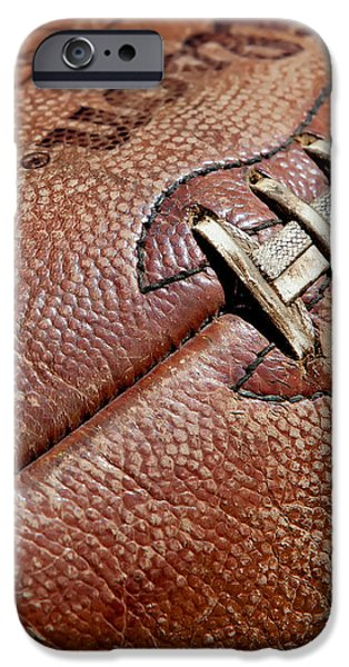 Vintage Football iPhone Case by Art Block Collections