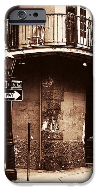 Big Easy iPhone Cases - Vintage French Quarter iPhone Case by John Rizzuto