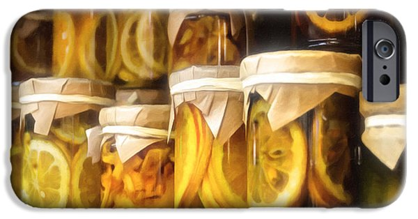 Berry Mixed Media iPhone Cases - Vintage Fruit And Vegetable Preserves IIII iPhone Case by Georgiana Romanovna
