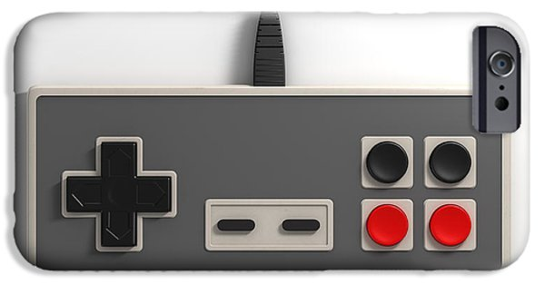 Cable iPhone Cases - Vintage Gaming iPhone Case by Allan Swart