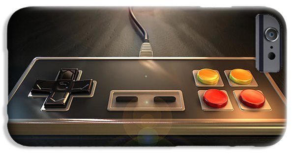 Electronic Digital iPhone Cases - Vintage Gaming Controller iPhone Case by Allan Swart