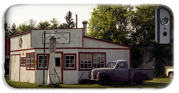 Speer iPhone Cases - Vintage Gas Station iPhone Case by Roxy Hurtubise